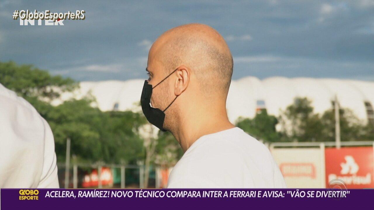 Inter anuncia Miguel Ángel Ramírez e o treinador compara o clube com uma Ferrari