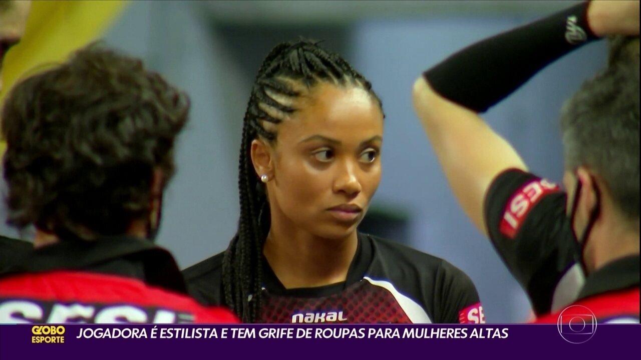 Fernanda Ísis é estilista e tem grife especializada em roupas para mulheres altas
