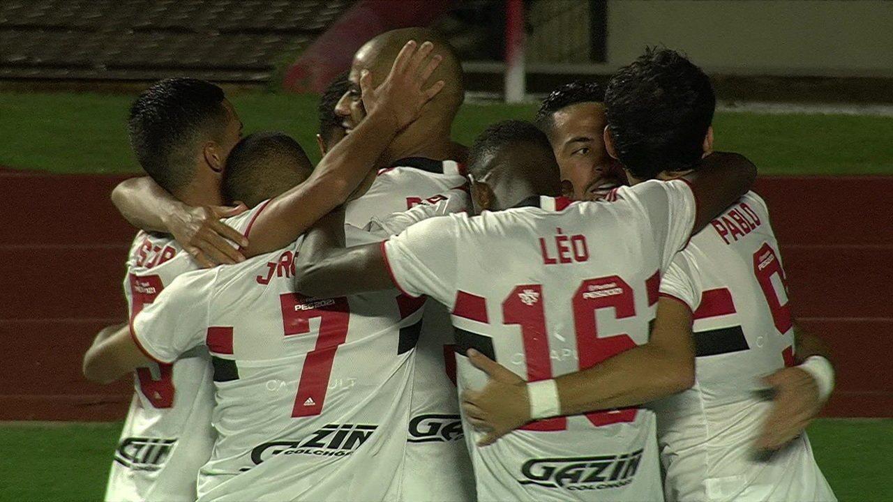 Os gols de São Paulo 4 x 0 Santos pela 3ª rodada do Campeonato Paulista