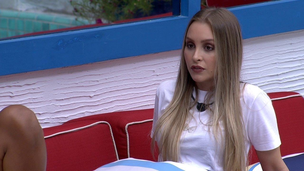 Carla Diaz aponta possibilidade de puxar sister em contragolpe: ´Está nítido´