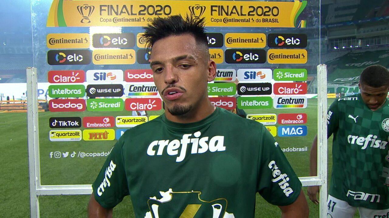 Gabriel Menino enaltece conquista do Palmeiras e diz que entrou para a história do clube