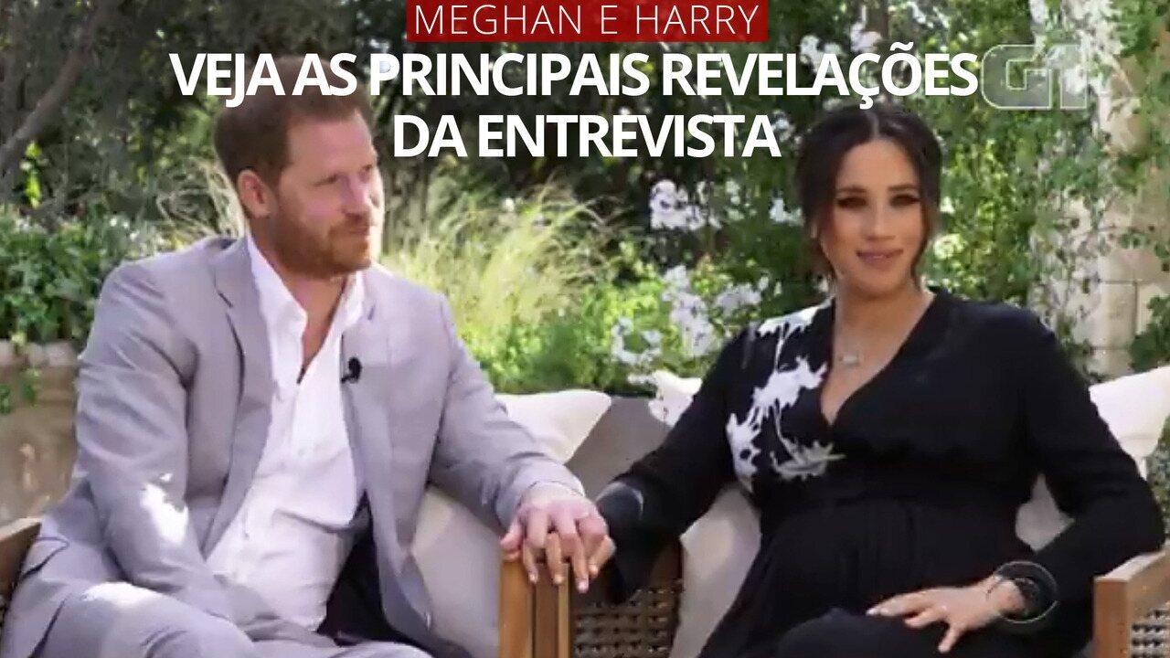 VÍDEO: as principais revelações da entrevista de Meghan e Harry