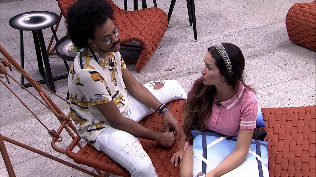 Juliette revela a João Luiz: 'Ainda estou muito confusa em relação a Carla'