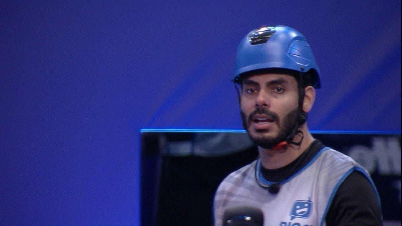 Rodolffo destaca durante Prova do Líder no BBB21: 'Estou na mira'