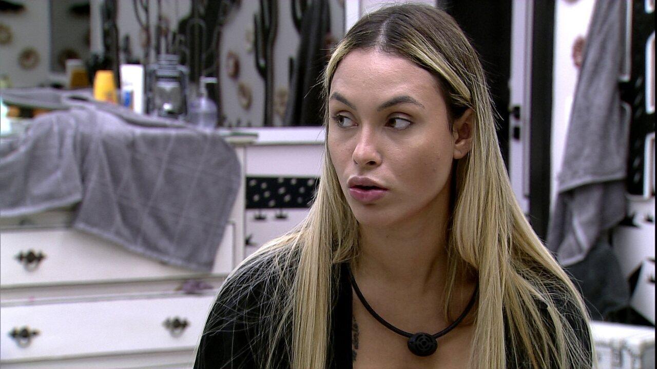 Sarah opina sobre Carla Diaz: 'Continuo desconfiando de várias coisas'