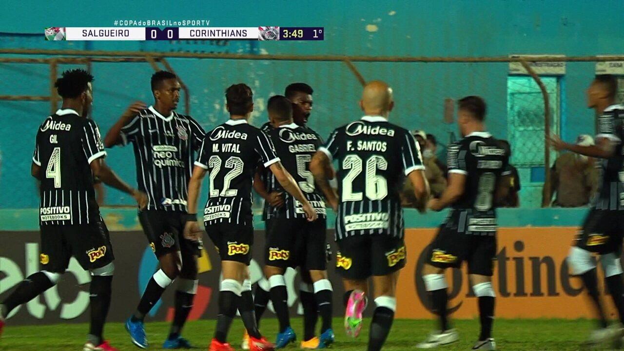 Jemerson tem apenas um gol pelo Corinthians: contra o Salgueiro, em jogo da Copa do Brasil