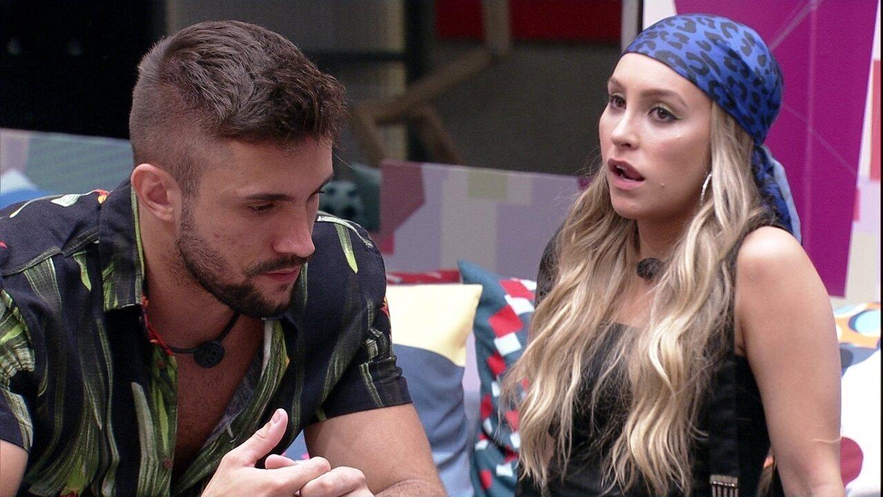 Carla Diaz dispara para Arthur: 'É muito pior ver você desse jeito do que te ver saindo'