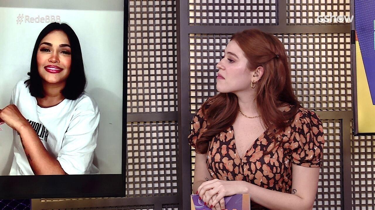 Na Mesa BBB, Flayslane opina sobre comportamento de Carla Diaz com Arthur: 'Se contentando