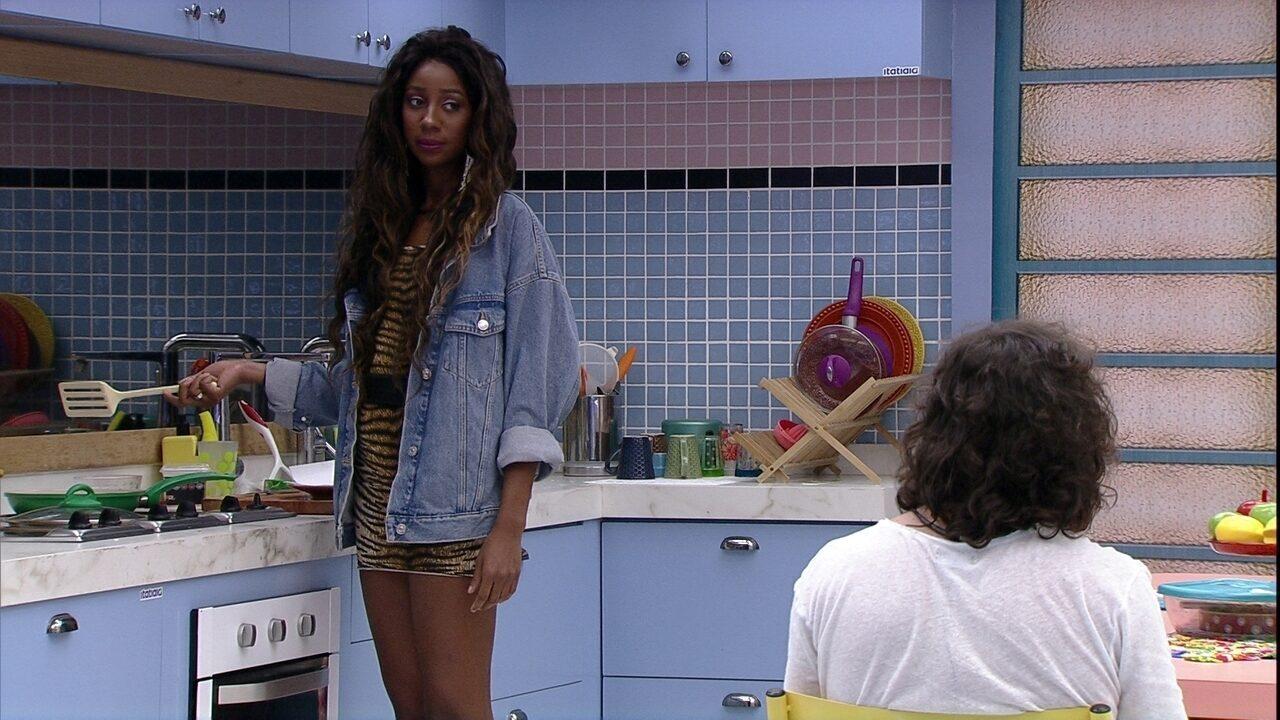 Camilla de Lucas diz para Fiuk e Juliette se resolverem: 'Vão brigar por coisa de verdade'