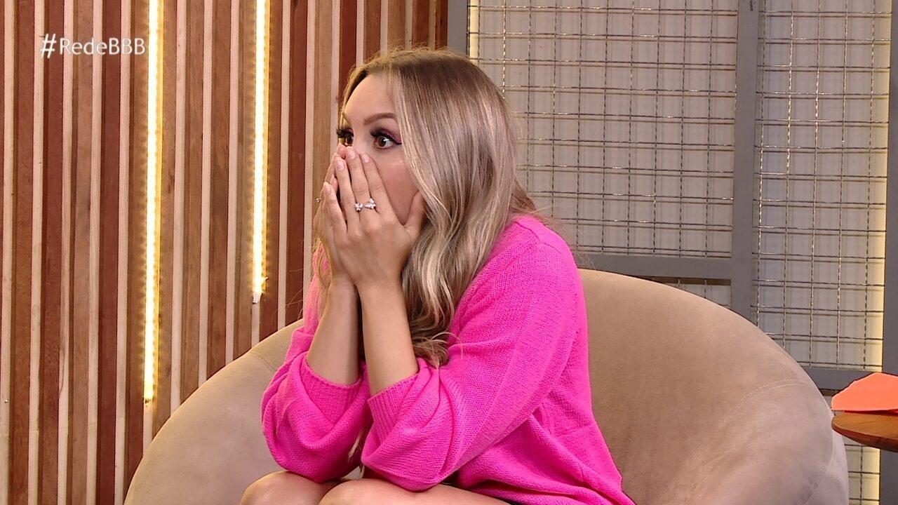 No Bate-Papo BBB, Carla Diaz fica chocada ao descobrir taxa de rejeição de Karol Conká