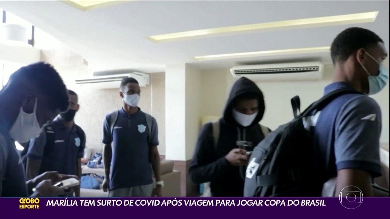 Time do Marília tem surto de covid após viagem para jogar Copa do Brasil