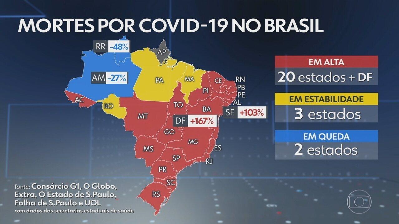 Brasil ultrapassa 300 mil mortes por Covid