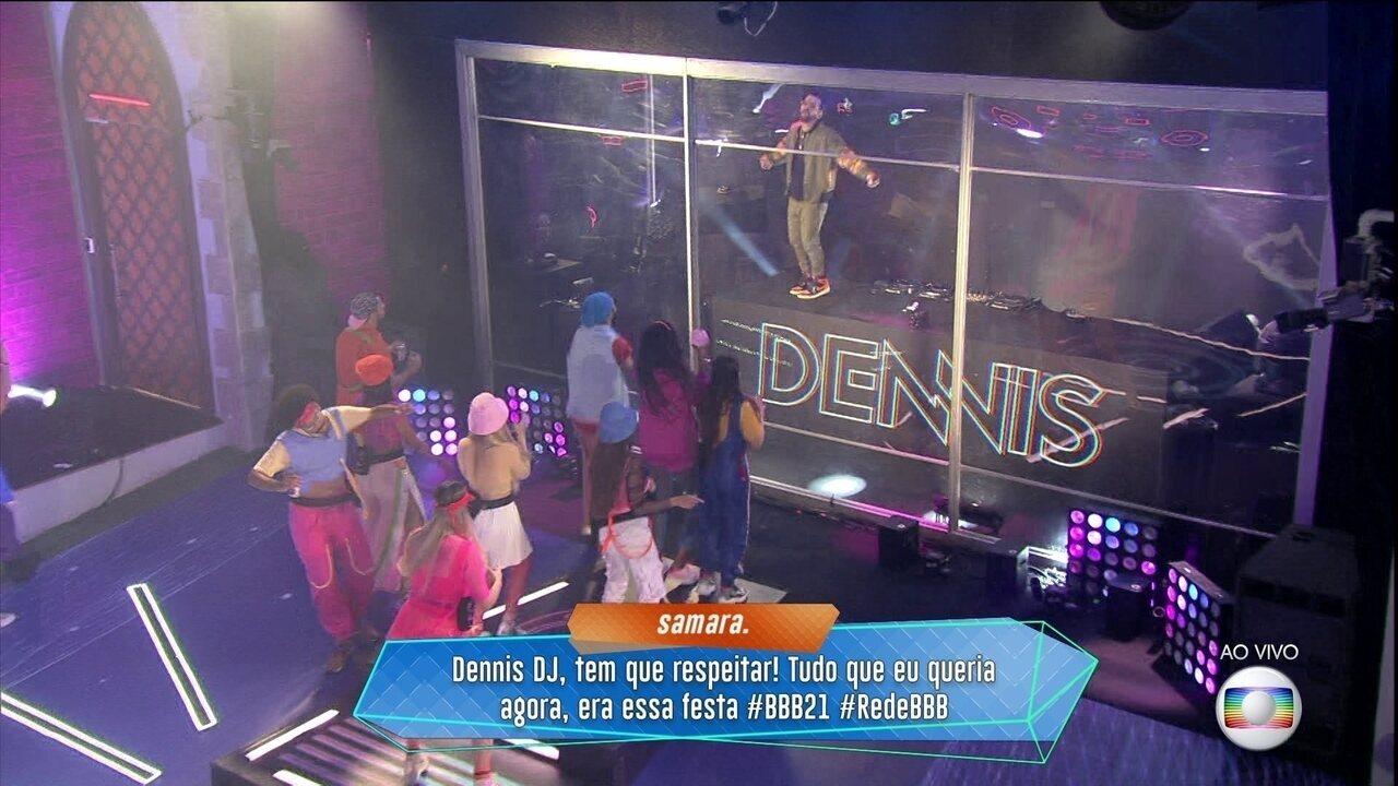 Começa a Festa Above com apresentação de Dennis DJ no BBB21
