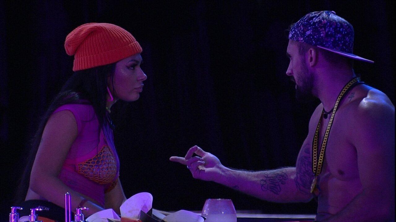 BBB21: Líder Arthur pergunta se Pocah daria imunidade para Juliette e declara: 'Vou nela'