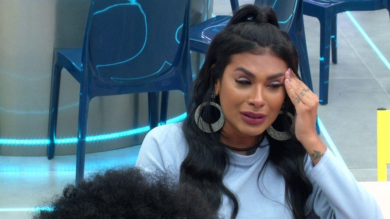 Pocah chora e fala sobre Sarah e Gilberto: 'Não sei se sinto tanta verdade'