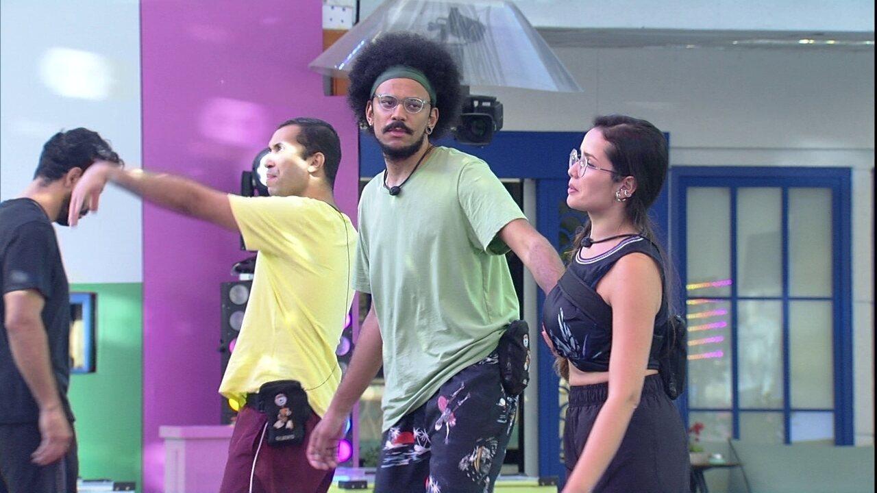 Gilberto e Juliette gritam em Prova do Líder no BBB21: 'Se permita!'