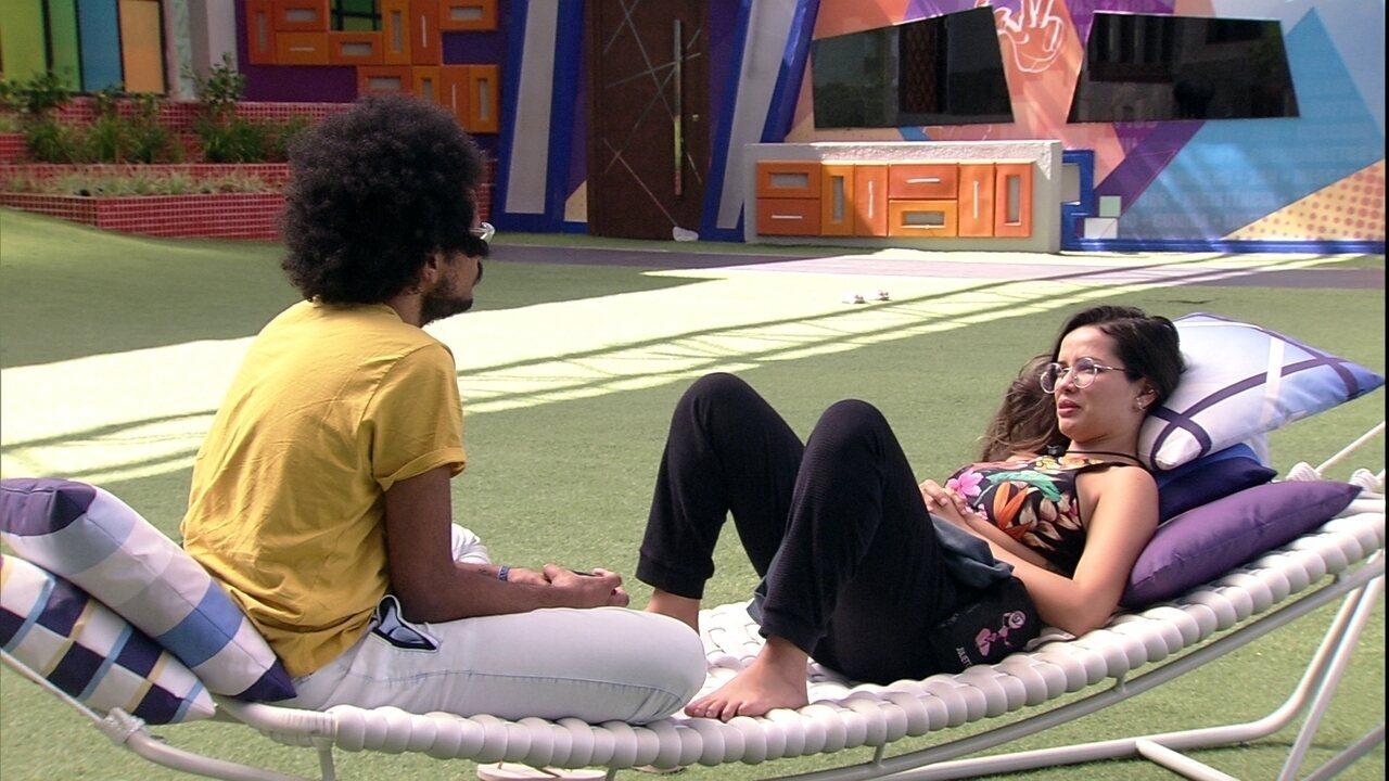 Juliette diz a brother que não deve votar em Rodolffo: 'Já botei ele da outra vez direto'