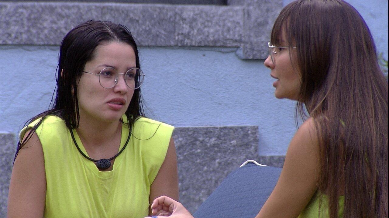 Thaís e Juliette falam sobre relação com Viih Tube: 'Não quero isso seja sempreuma disputa