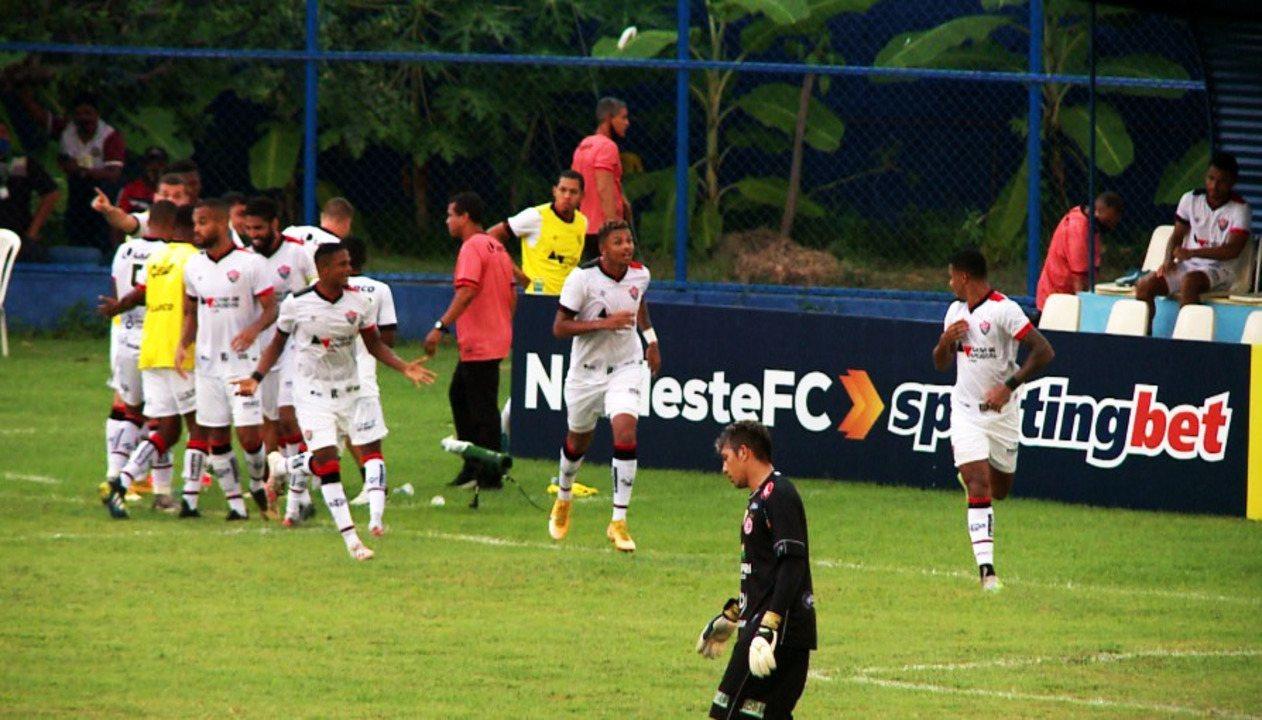 Os gols de 4 de Julho 1 x 1 Vitória pela oitava rodada da Copa do Nordeste