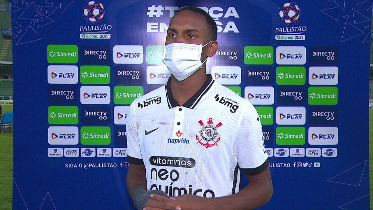 Cauê exalta vitória e primeiro gol pelo Corinthians