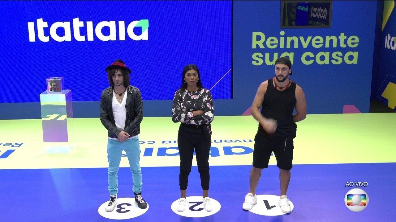 Arthur, Fiuk e Pocah disputam a primeira parte da Prova Bate e Volta do BBB21