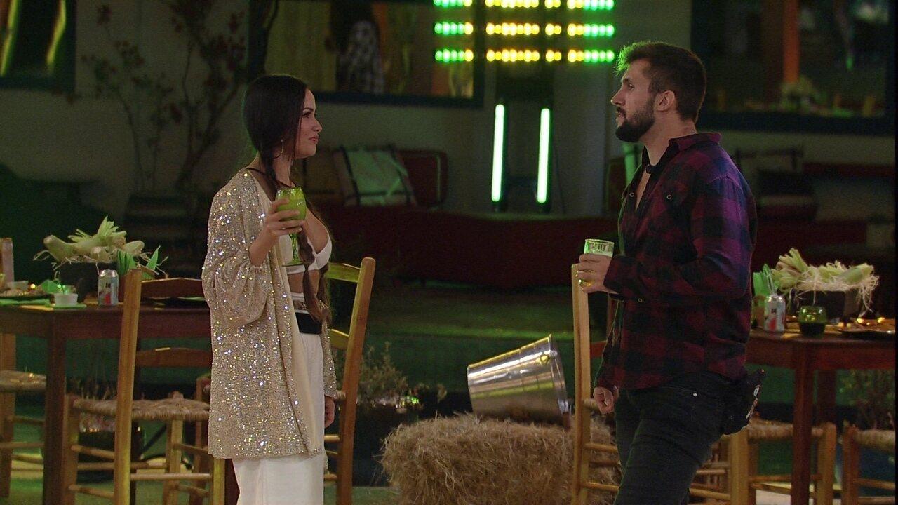 Juliette revela a Arthur sobre o BBB21: 'Achava que quem saia primeiro era eu e tu'