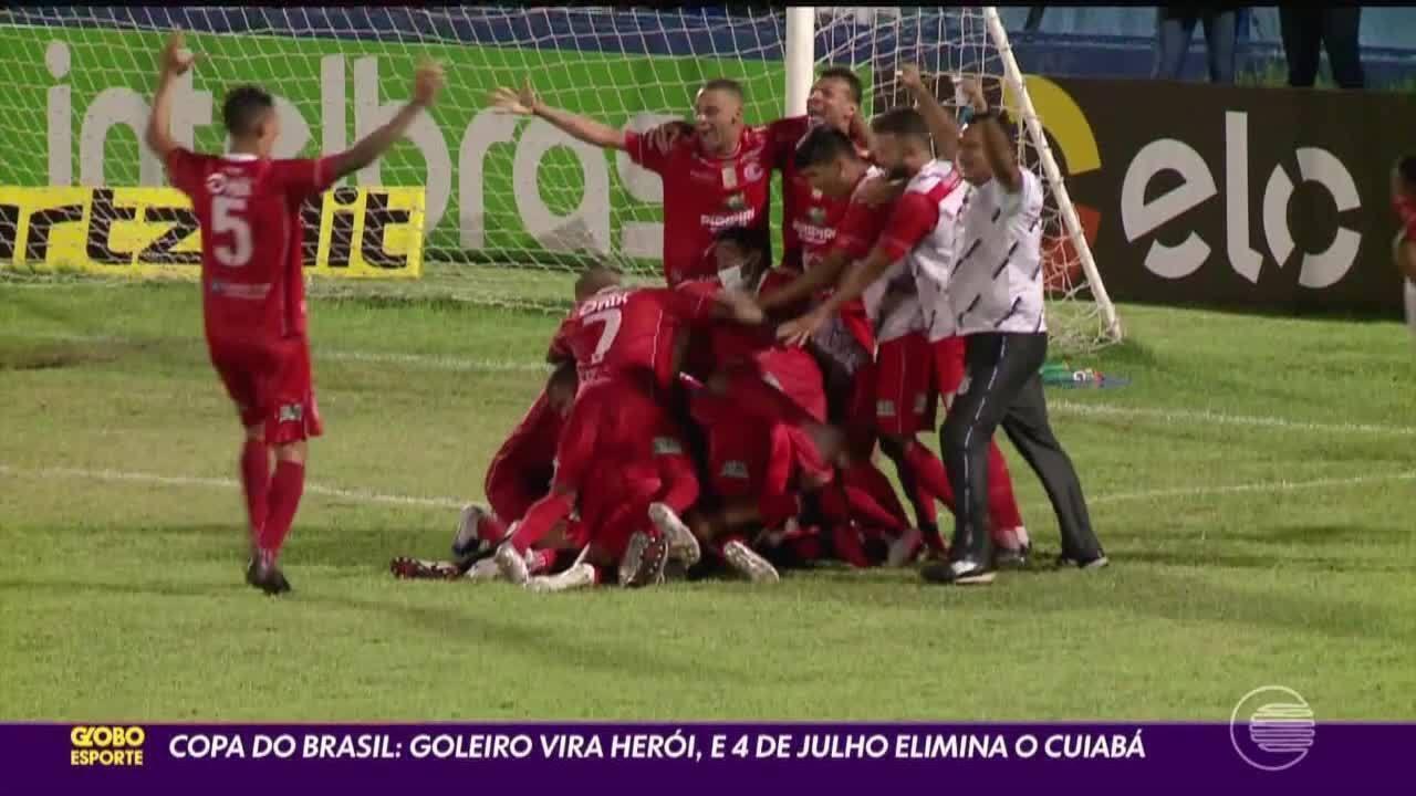 Copa do Brasil: goleiro vira herói, e 4 de Julho elimina Cuiabá