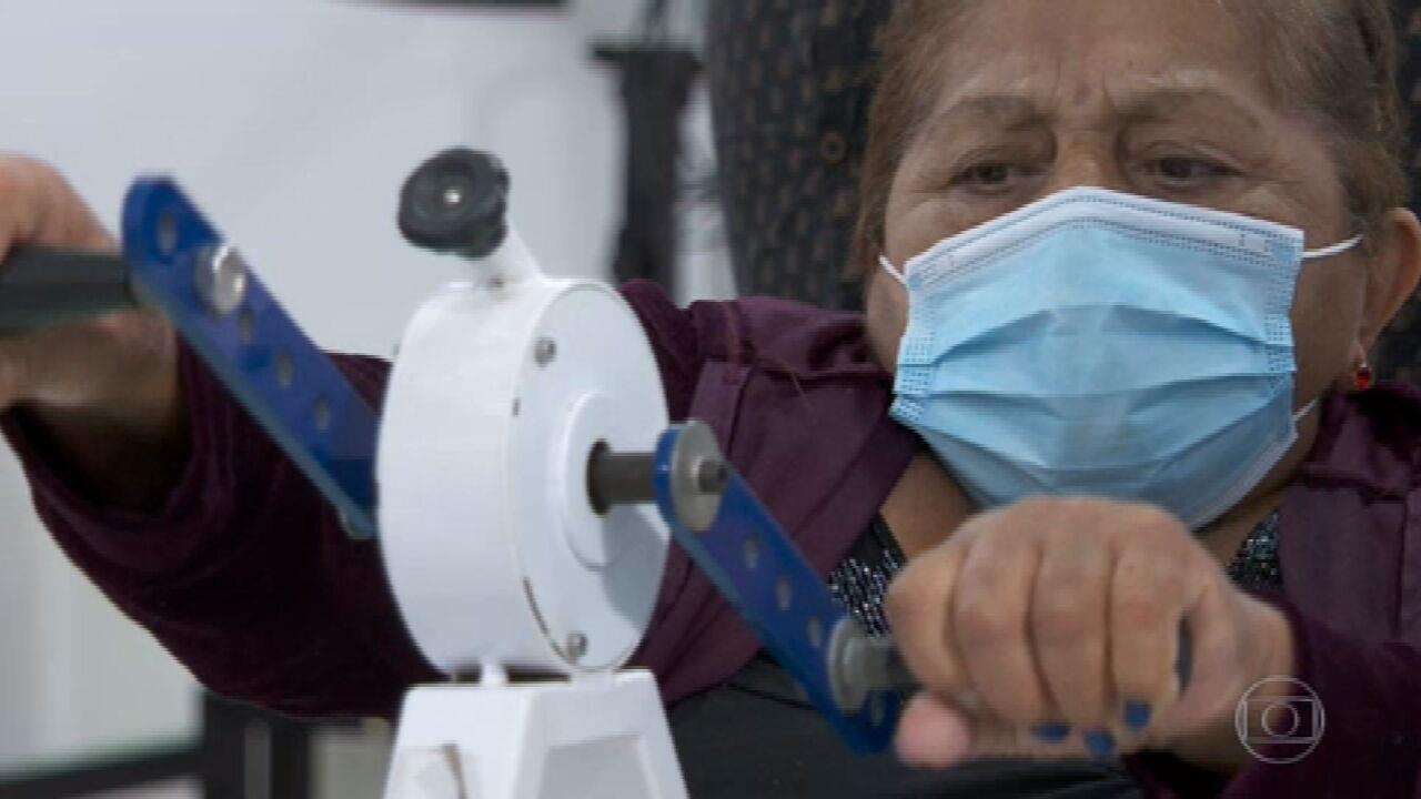 Hospital oferece reabilitação gratuita a pacientes de Covid que não conseguem vaga no SUS