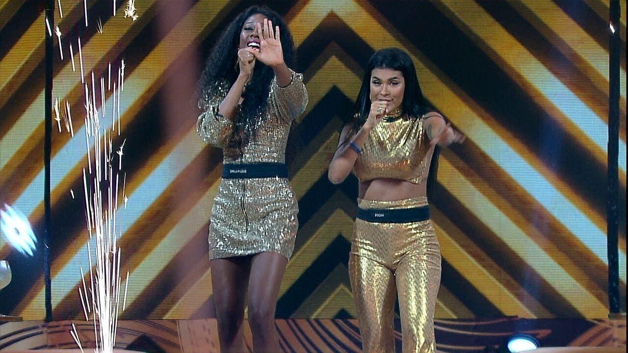Sisters do BBB21 imitam Simone e Simaria na Festa Cor & Ton