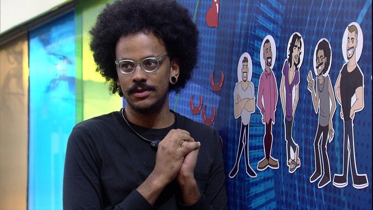 João Luiz explica a sisters do BBB21 hipóteses para o Paredão
