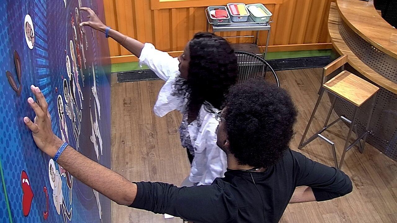 Camilla e João avaliam possibilidades e sister revela quem vai para o VIP caso seja Líder