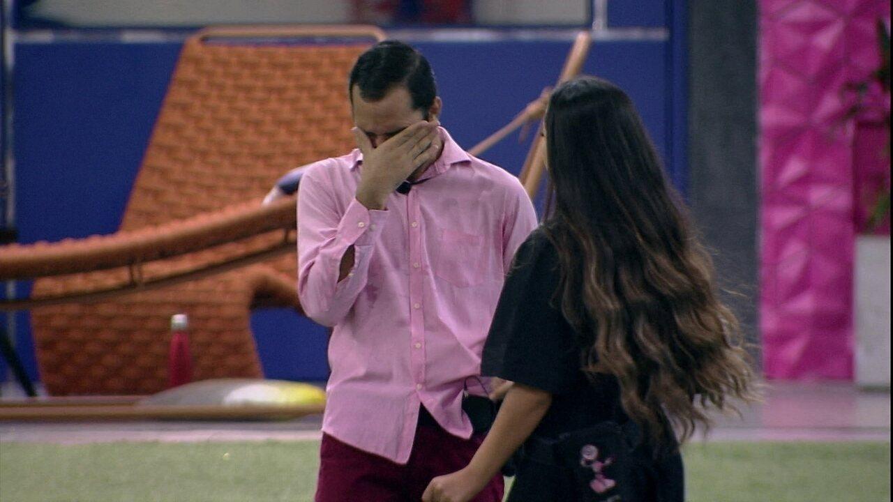 Emparedado, Gilberto se emociona e Juliette declara para brother: 'Não vai acabar hoje'