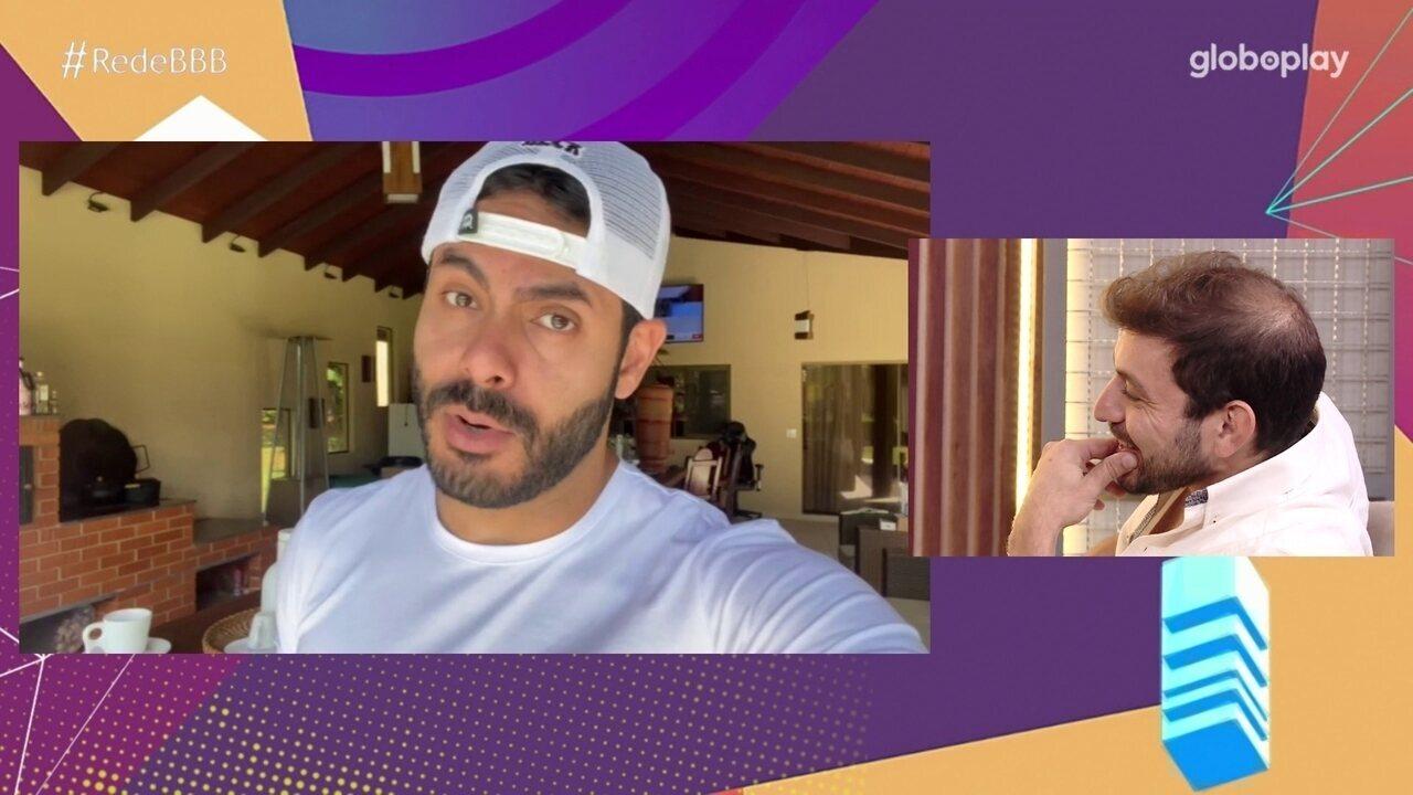 No Bate-Papo BBB, Caio fala sobre a amizade com Rodolffo
