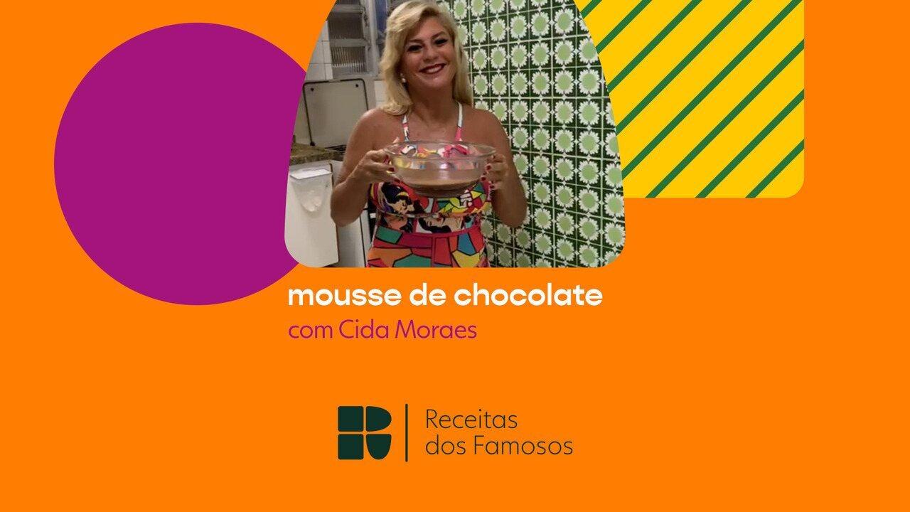 Cida Moraes ensina a fazer mousse de chocolate