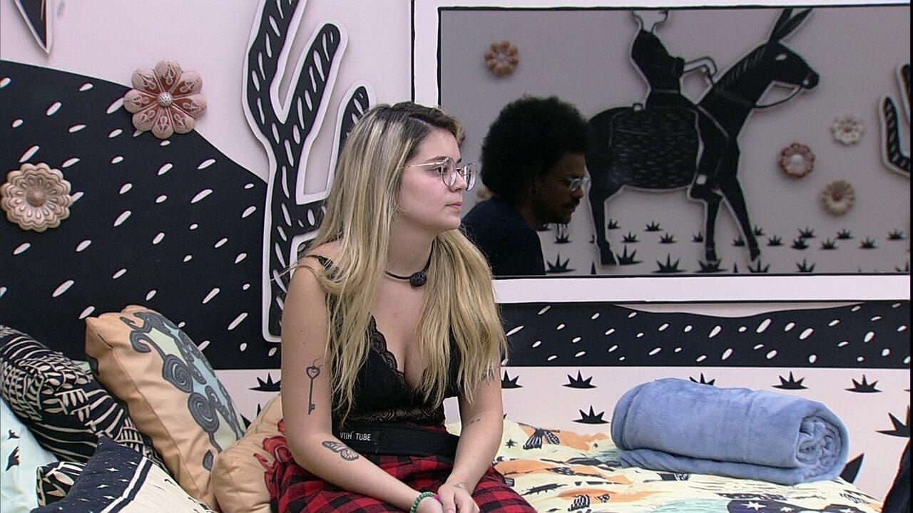 No Quarto Cordel do BBB21, Viih Tube dispara: 'Se o João sair, tchau para mim'