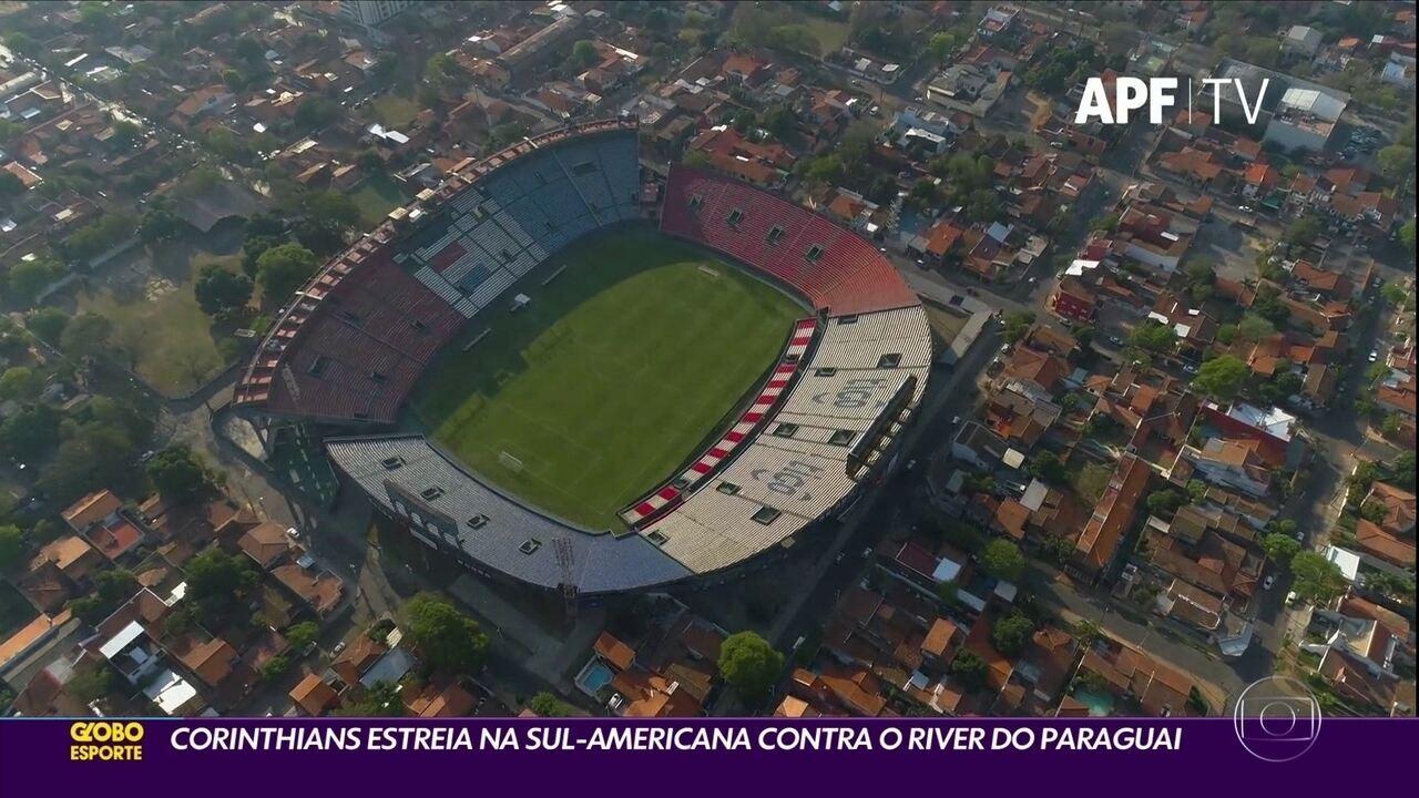 Corinthians estrie hoje na Sul-Americana contra o River do Paraguai