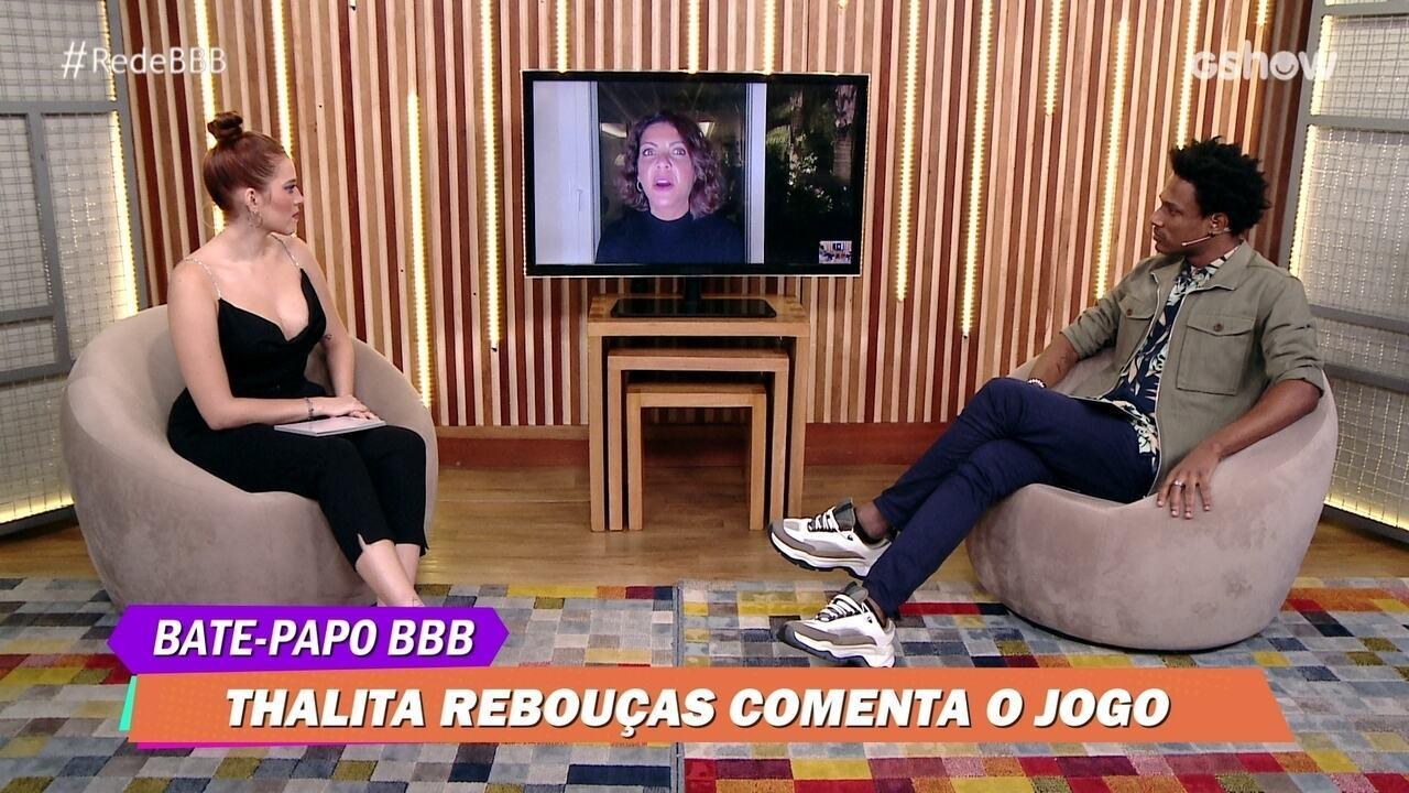Bate-Papo BBB: Thalita Rebouças elogia finalista Camilla de Lucas no BBB21: 'Sou fã dela'