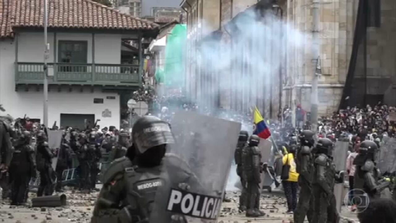 Colômbia chega ao 8º dia de intensas manifestações