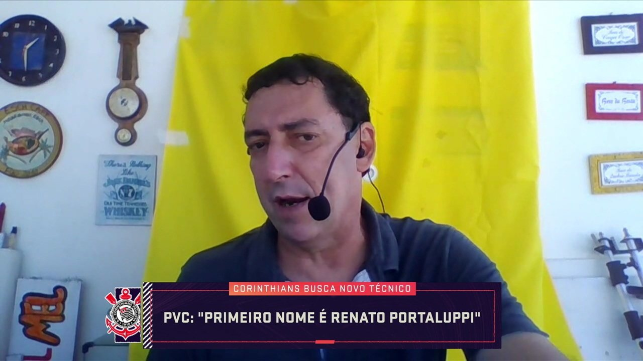 """PVC sobre possíveis técnicos do Corinthians: """"Primeiro nome é Renato Gaúcho"""""""