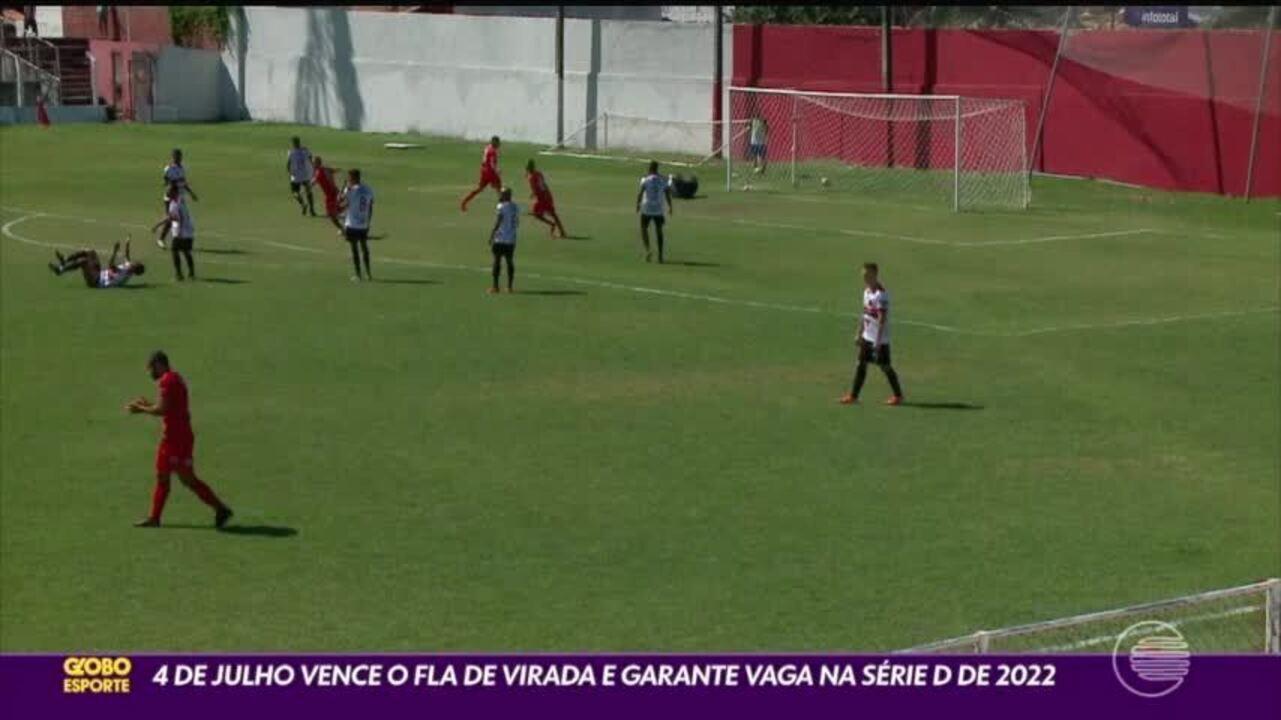 4 de julho vence e garante vaga na Série D do Brasileiro