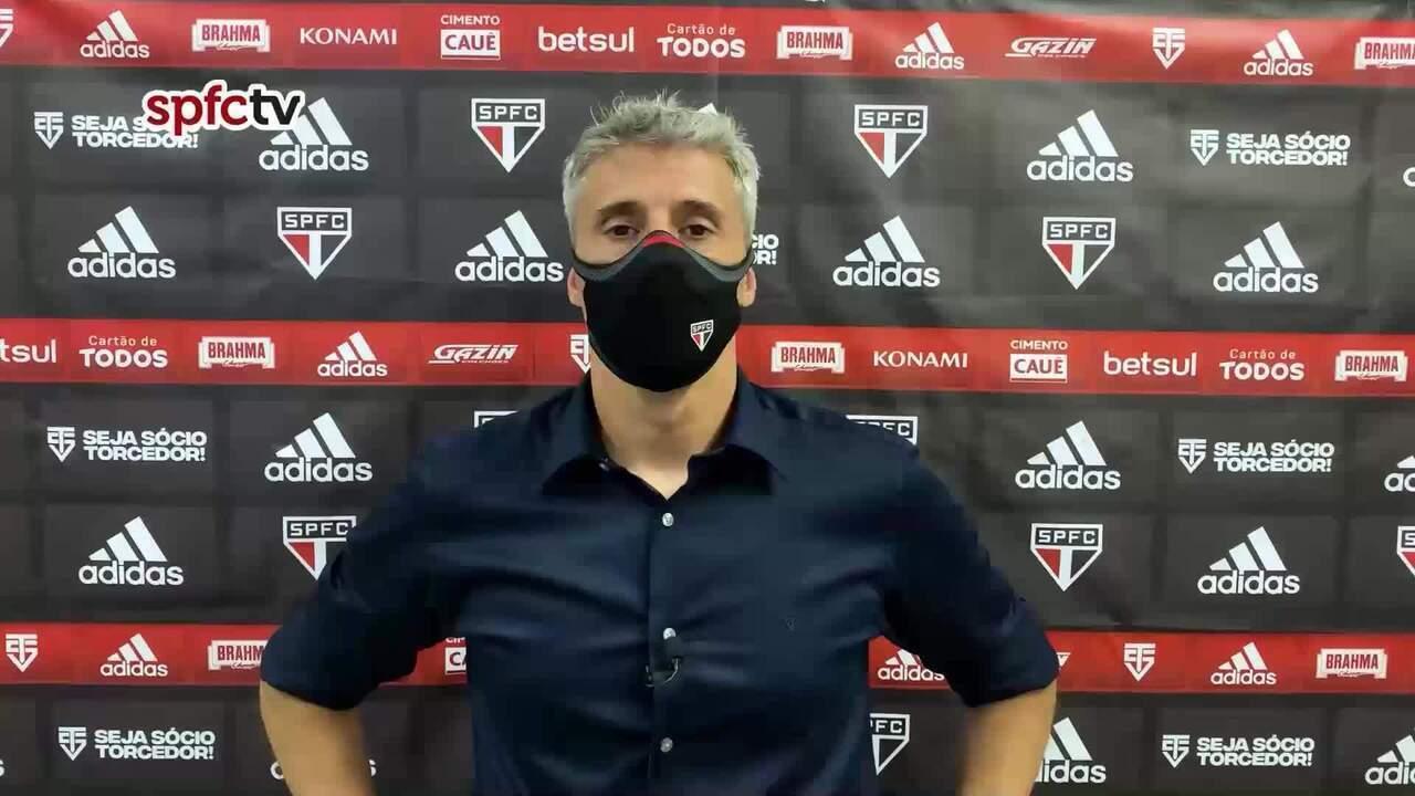 Coletiva do técnico do São Paulo após derrota para o 4 de Julho