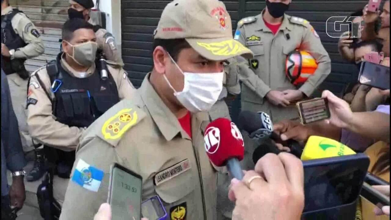 Comandante dos Bombeiros informa que criança foi resgatada sem vida dos escombros