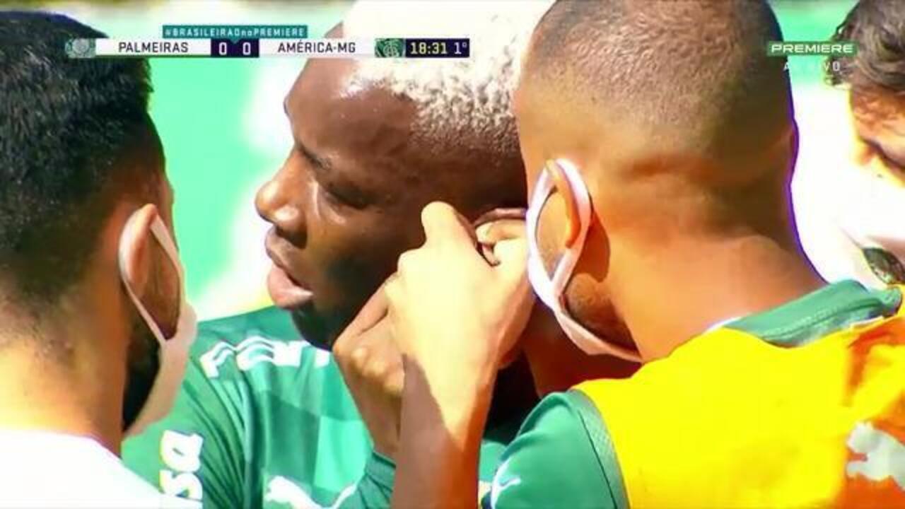 Patrick de Paula fica fora de jogo por 6 minutos por conta de brinco e recebe críticas do próprio elenco do Palmeiras
