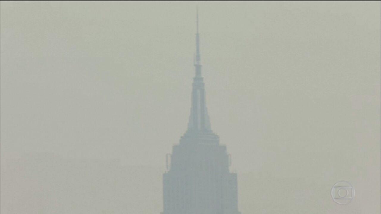 El humo de los incendios forestales de la costa oeste de Oregon golpea Nueva York