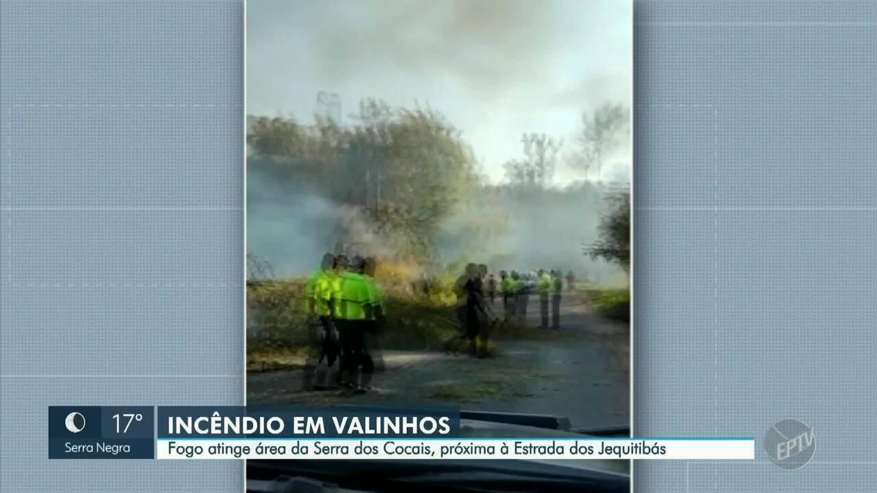 Imagens de drone mostram destruição causada por incêndio na Serra dos Cocais, em Valinhos