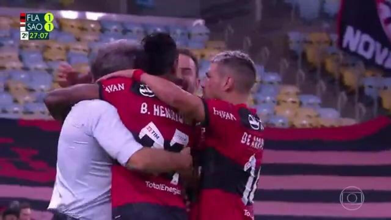 Os gols de Flamengo 5 x 1 São Paulo pela 13ª rodada do Brasileirão 2021
