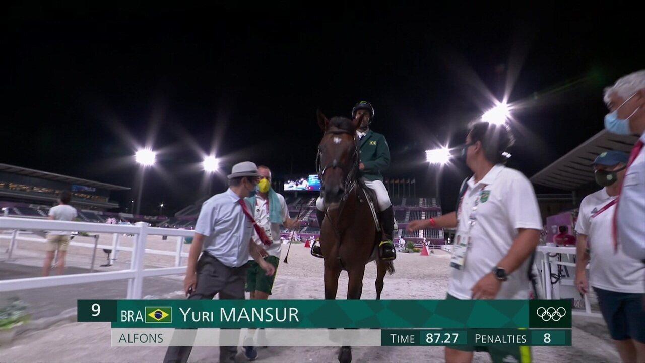 Brasileiro Yuri Mansur faz percurso em 87.27, mas comete duas faltas - Olimpíadas de Tóquio