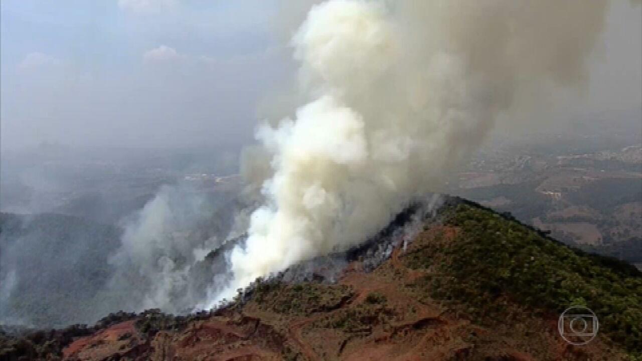 Região metropolitana de BH registra vários focos de incêndio