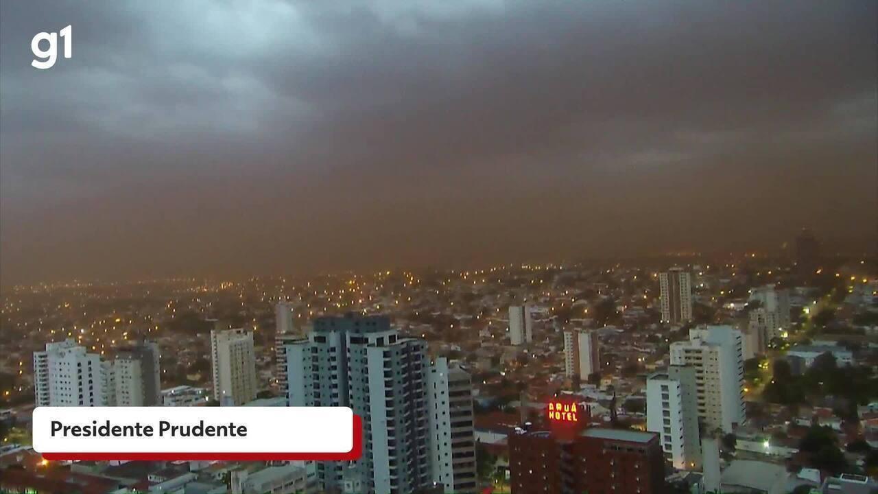 Rajadas de vento com 80km/h atingem Oeste Paulista